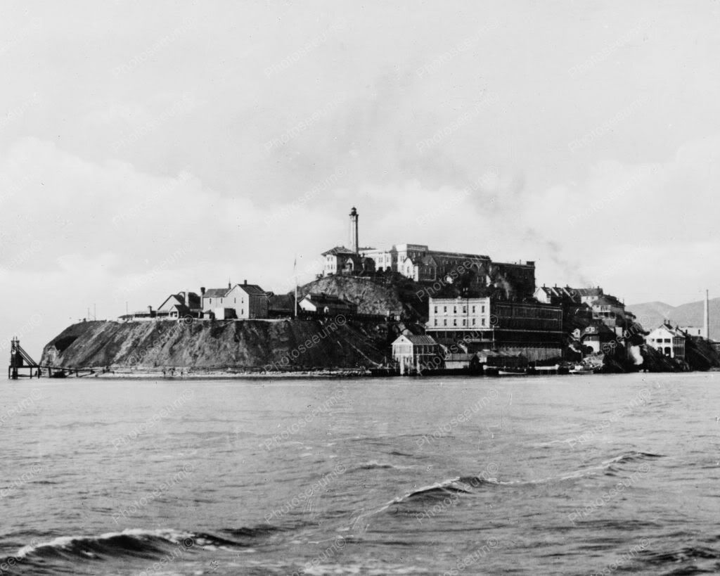 Alcatraz Island Prison 1930s 8x10 Reprint Of Old Photo 1940s