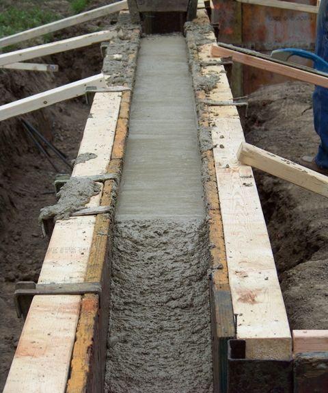 How To Pour A Concrete Foundation Home Construction House Foundation Concrete Footings