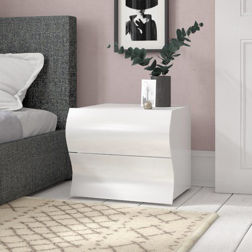 a9ed76c386 Metro Lane Hillview 2 Drawer Bedside Table in 2019 | Products | 3 ...