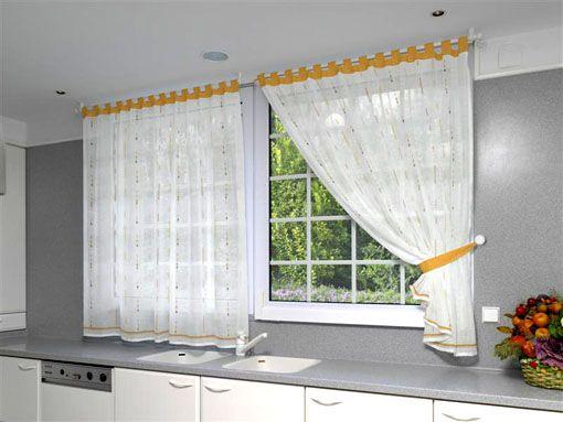 Cortinas para ventanas de cocina mi casa pinterest - Cortinas de cocinas ...