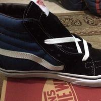 Sepatu Vans Sk8 Hi Navy Blue Premium High Dengan Gambar Sepatu