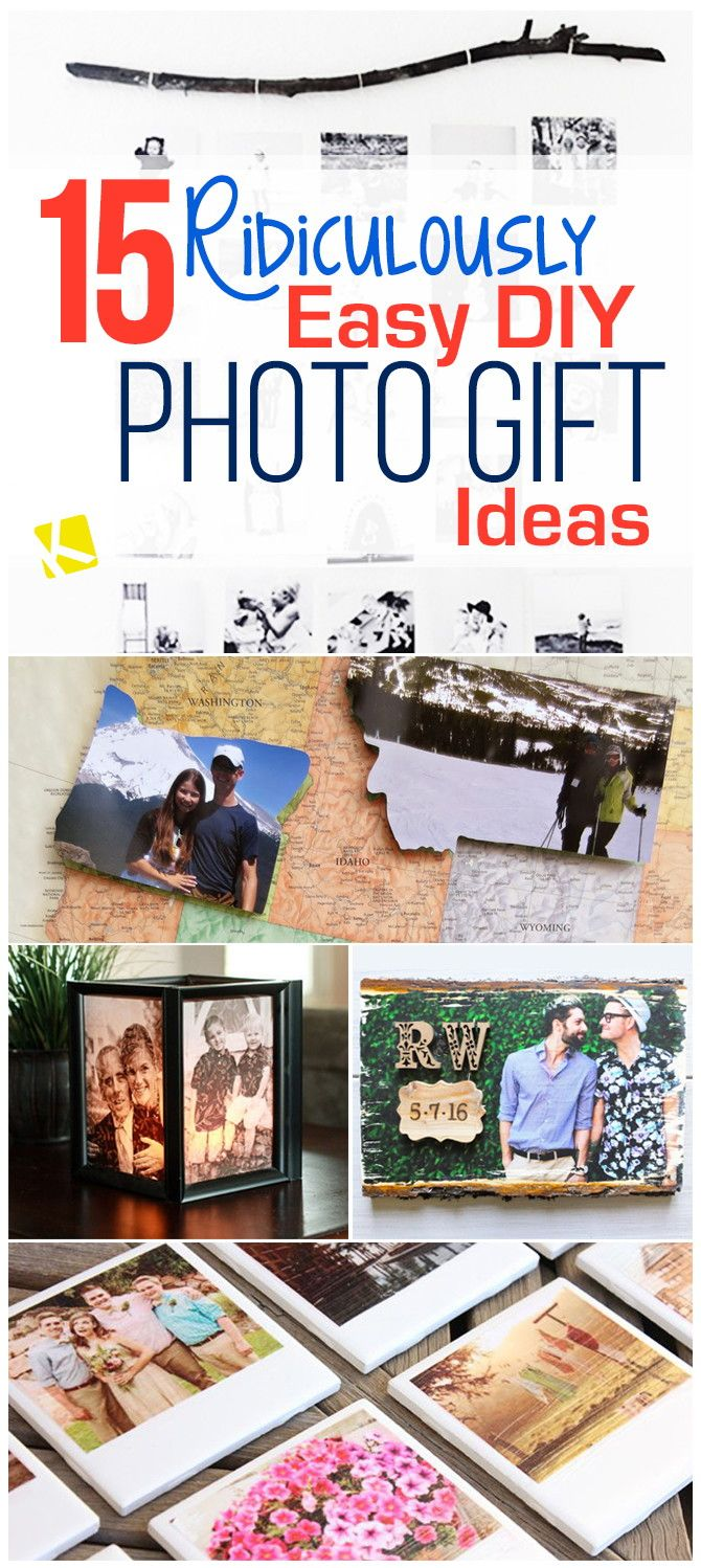 15 Ridiculously Easy Diy Photo Gift Ideas Diy Holiday