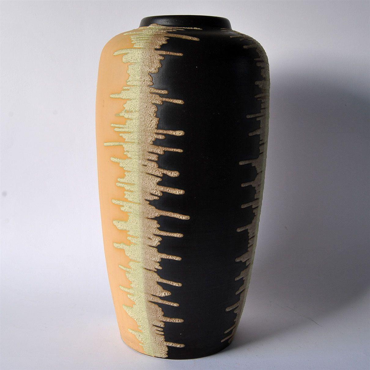 BODENVASE (B), Keramik, 41 cm, abstraktes Dekor, 50er Jahre - EUR 70 ...