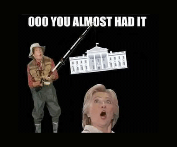 Almost had it funny hillary clinton meme memes for State farm fishing guy