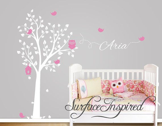 kinderzimmer wandtattoo eule baum wall decal mit v geln und tina babybilder kinderzimmer. Black Bedroom Furniture Sets. Home Design Ideas