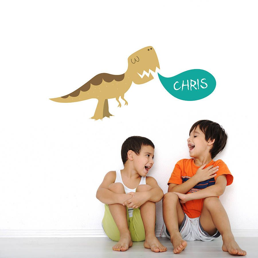 An exciting personalised dinosaur wall sticker perfect for children's bedrooms, playrooms and nurseries.Our wall stickers for children are designed to be super easy to install, durable and hygenic. Crafted from premium matte vinyl using eco-solvent inks our wall stickers can be wiped clean. Our children's wall stickers can also be removed and reused again and again, simply peel and stick! Great as a special Christmas or birthday gift. All items come in sections and can be positioned as you…