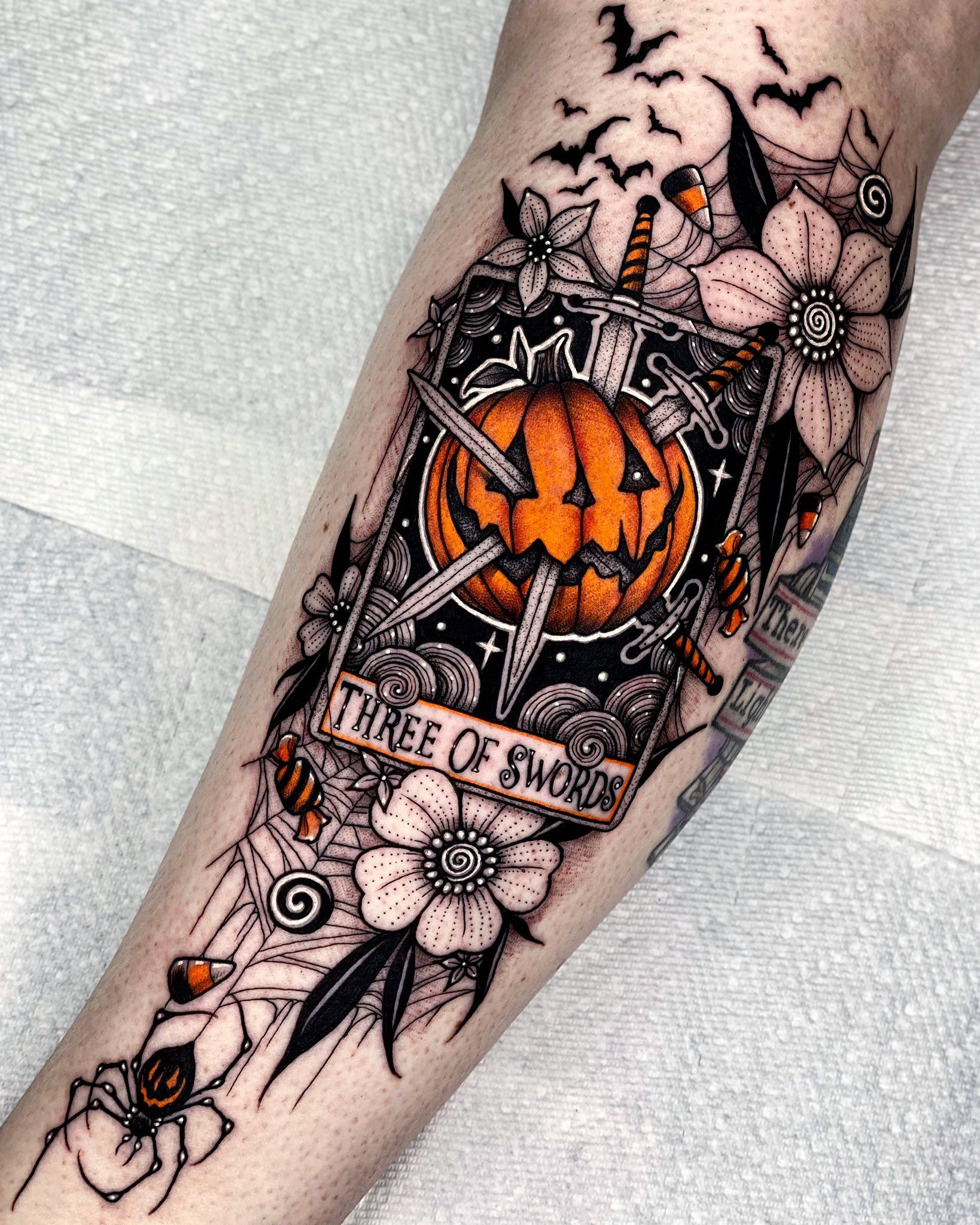 Halloween Tattoos.Angelo Parente On Twitter In 2021 Halloween Tattoos Tarot Tattoo Halloween Tattoos Sleeve