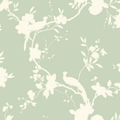 Opera chinoise shadow wallpaper sage at homebase - Butterfly wallpaper homebase ...