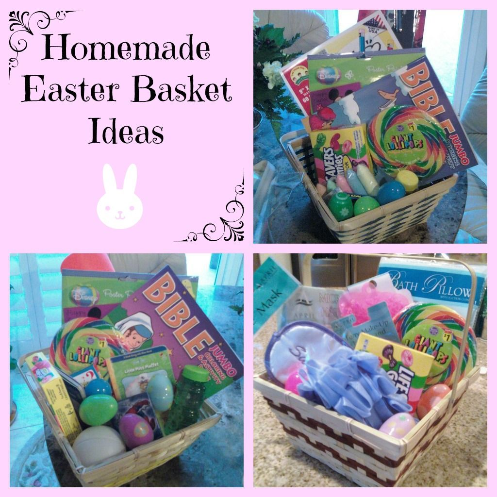 Homemade easter basket ideas from pinch this stretch that easter easter baskets is a family tradition in our home i try to include items that feel the spirit as well as fun and practical items these baskets are cute negle Choice Image