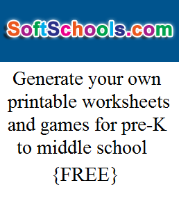 SoftSchools.com provides free worksheets, games, and quizzes ...