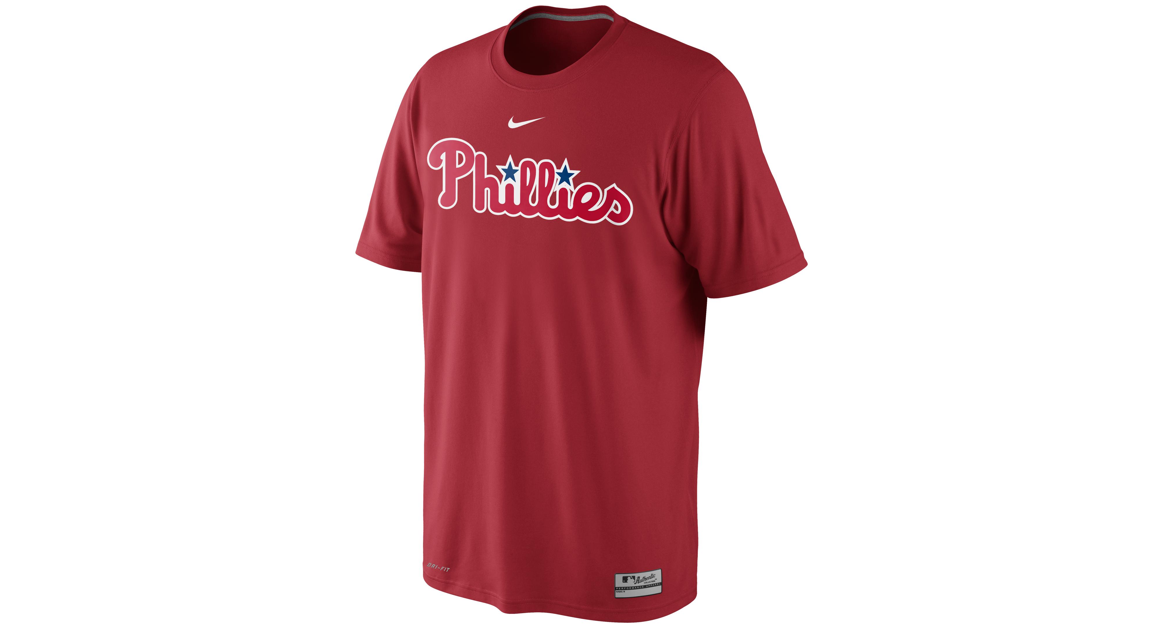 Nike Men's Short-Sleeve Dri-fit Philadelphia Phillies T-Shirt
