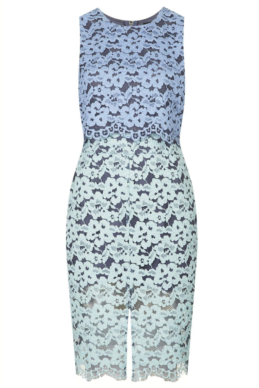 Two-Tone Lace Midi Dress - #topshop | My style - haves, want and ...