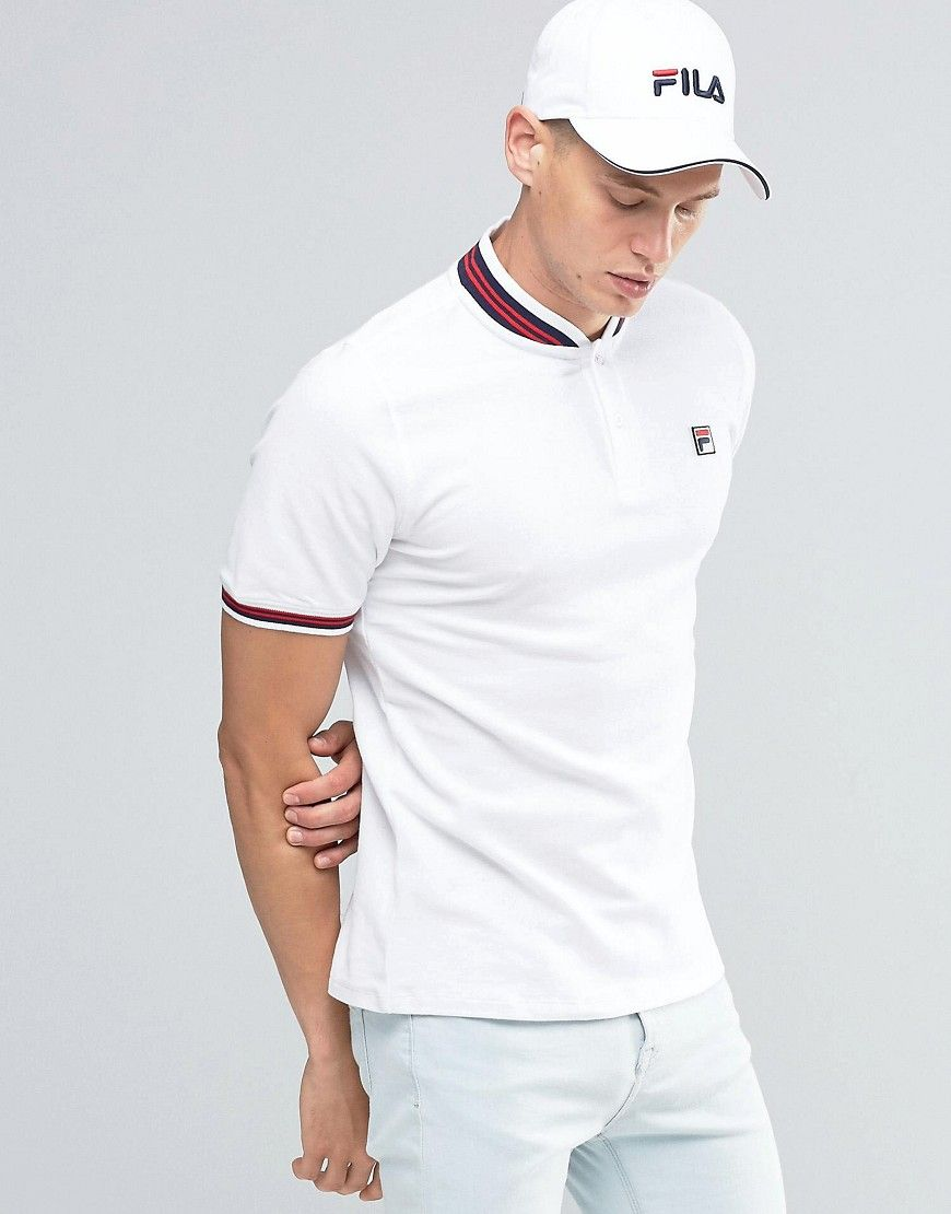 2b392ee1b2 Fila Vintage Polo Shirt With Retro Collar | Clothes | Fila vintage ...