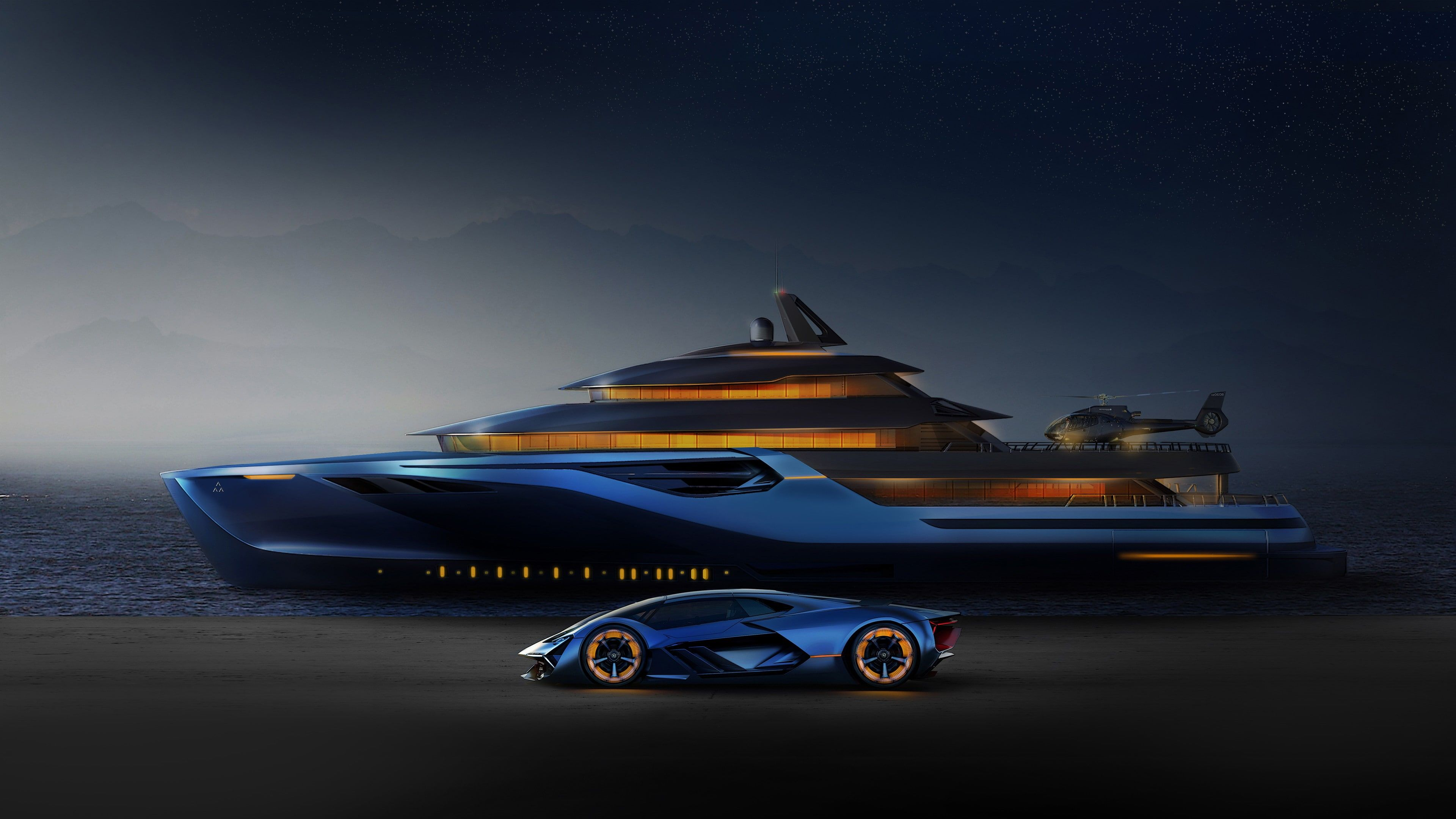Yacht Vehicle Lamborghini Terzo Millennio Luxury Yacht Concept Car Lamborghini Luxury Car Ship Luxury 4k Wal Super Cars Concept Cars Lamborghini Concept