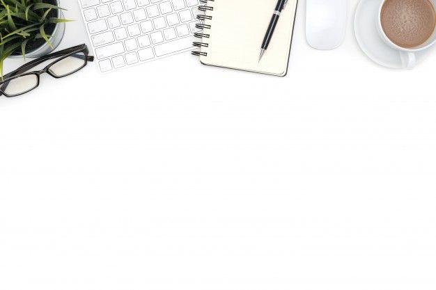Oficina De Suministros Con La Computadora En El Escritorio…   Plantillas De  Fondo De Powerpoint, Fondos De Pantalla De Power Point, Fondos De Pantalla  De Escritorio
