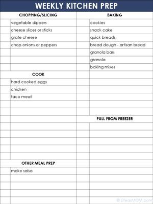 Free blank menu planning template and weekly menu plan example - school menu template