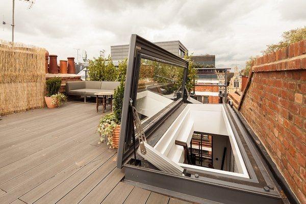 terrasse toit escalier interieur - Recherche Google VİLLA + DEKOR - escalier interieur de villa