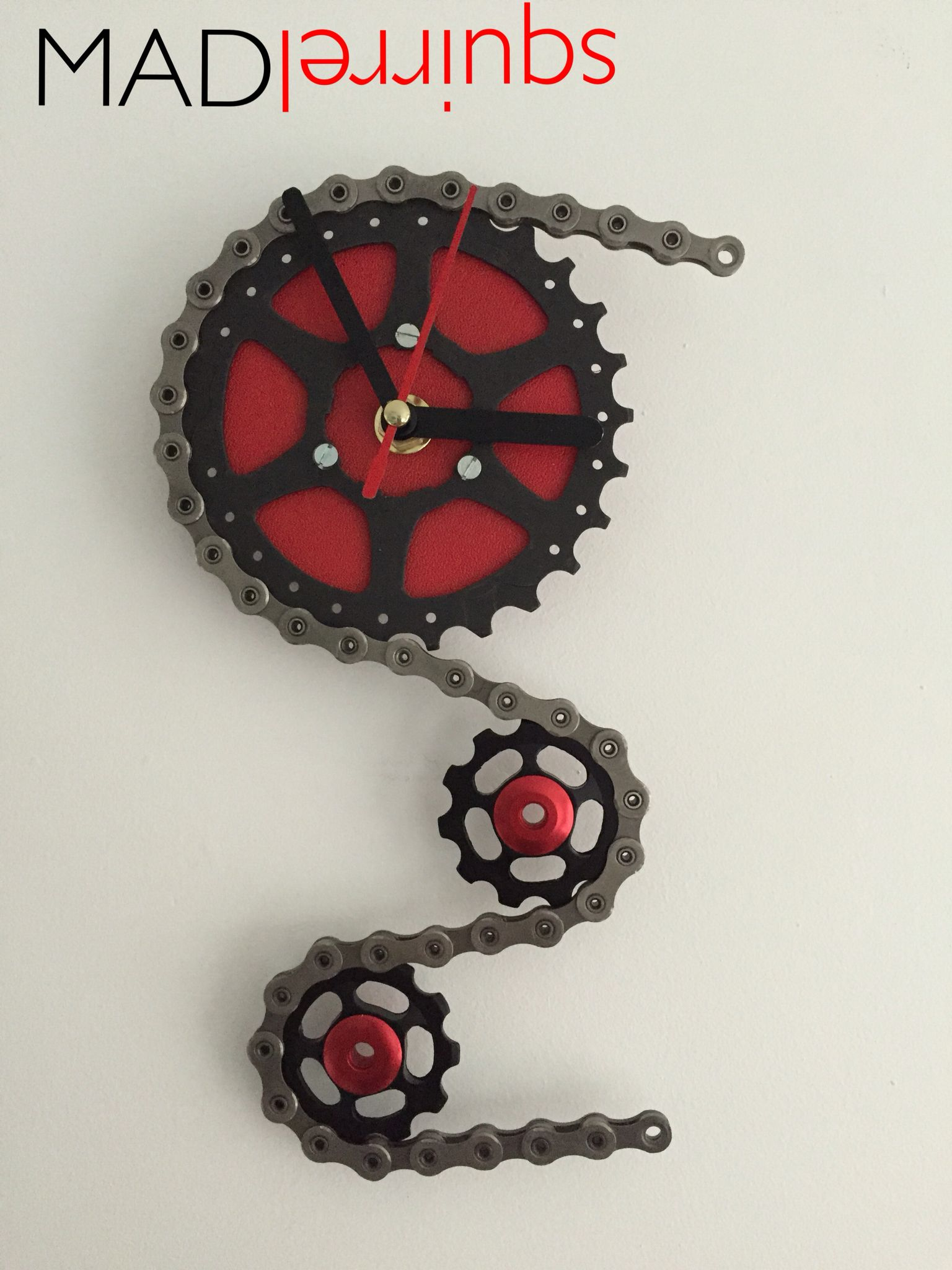 Triple Sprocket Clock With Images Bike Art Bicycle Art Metal