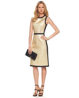 Pebbled Lame Dress by Michael Kors at Bergdorf Goodman.