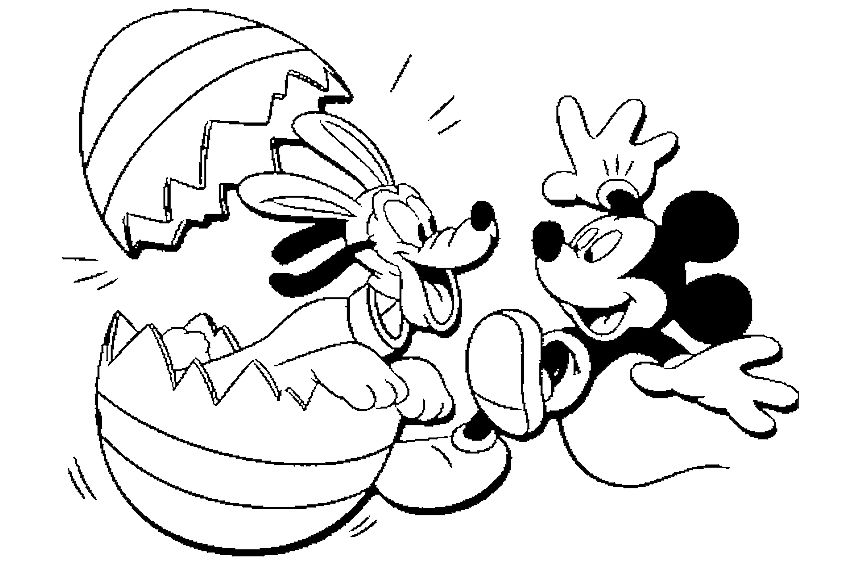 Easter Coloring Pages Ms. Cat's Honest World Mickey