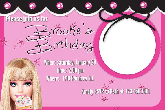 barbie birthday invitation by