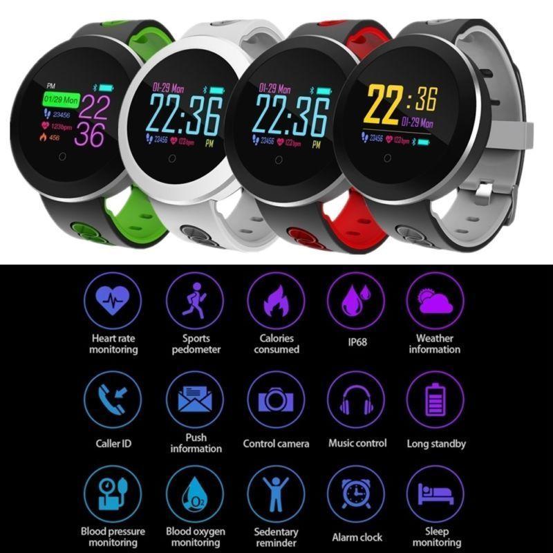 Waterpoof Smart Watch Heart Rate Monitor Fitness Tracker