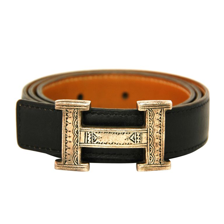 Hermes Black Touareg H Belt With Sterling Buckle 70 Cm Belt Hermes Bags Fashion