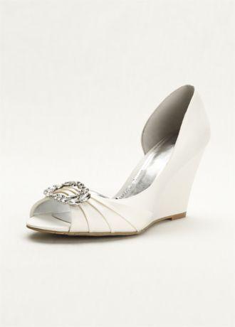 Touch Of Nina Wedge Sandal Ivory Wedding Shoes Wedding Shoes Wedge Sandals