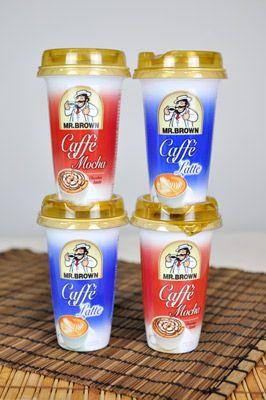 coole Kaffeevariationen und ideale Genussbegleiter in einem – die Kaffee-Milch-Mix Drinks von MR.BROWN in den Sorten Caffé Latte und Caffé Mocha.