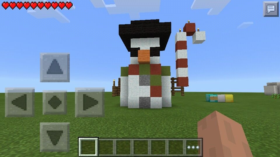 Haha...i copied that snowman from stampy.. Stampy, Haha