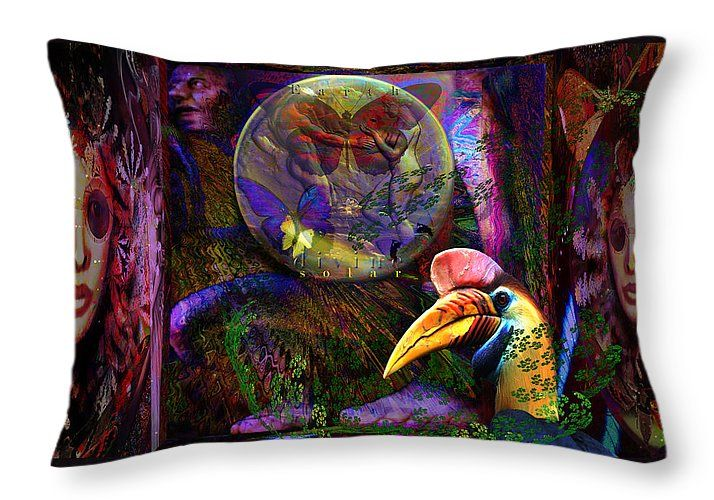 "Pacific Remote Islands National Monument Tribute Throw Pillow 20"" x 14"" by Joseph Mosley"
