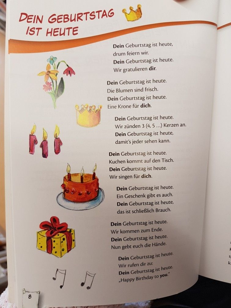 Dein Geburtstag Ist Heute Gedicht Kita Kindergarten Erzieher