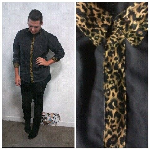 Cheetah contrast shirt
