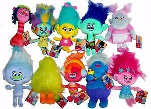 Plush Troll Dolls Bridget Poppy Branch Smidge Cooper Biggie