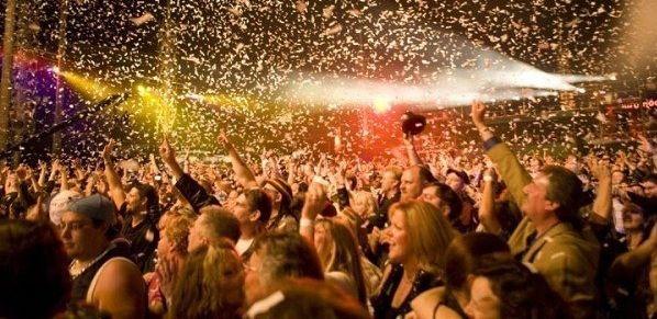 Celebrating on New Years Eve
