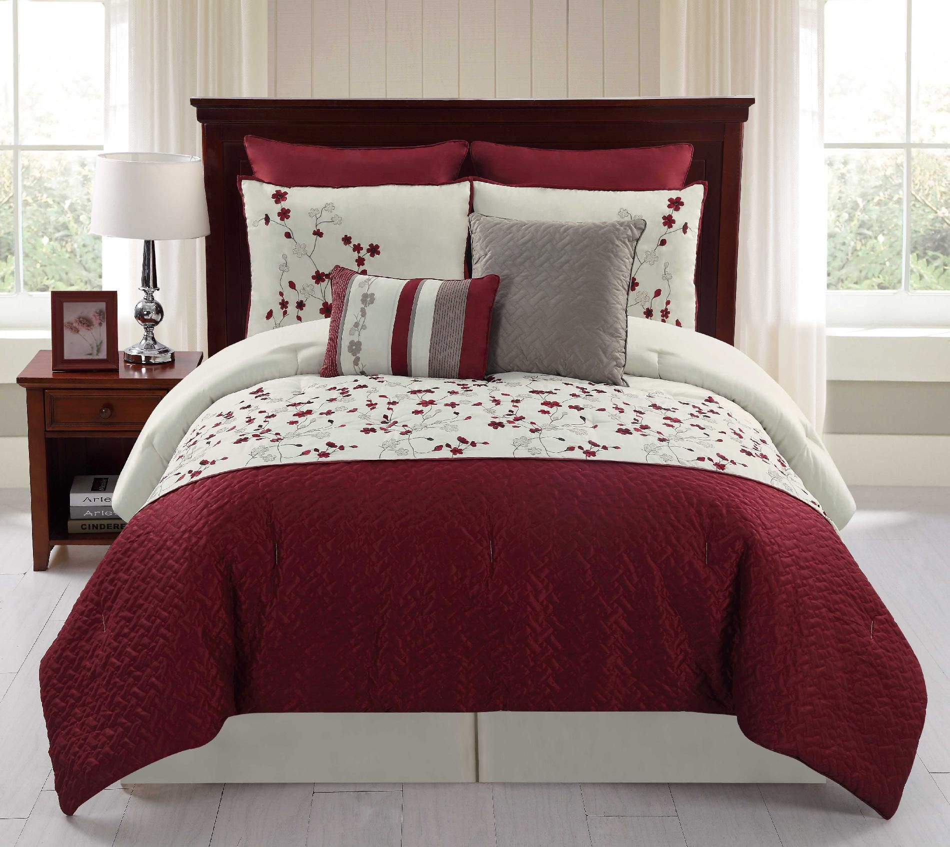 8pc Comforter Set Sadie Bed Bath Decorative Bedding Comforters