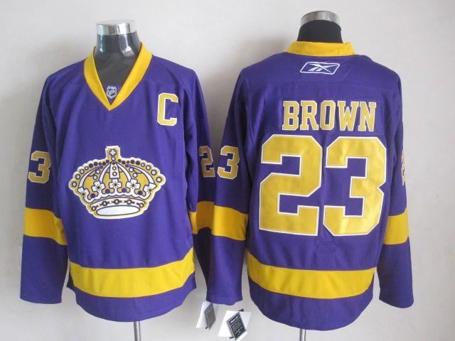 huge selection of 775bd 7db2a los angeles kings 23 dustin brown purple jersey