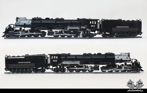 Lego Big Boy Steam Train Bricksonwheels | Lego | Lego train
