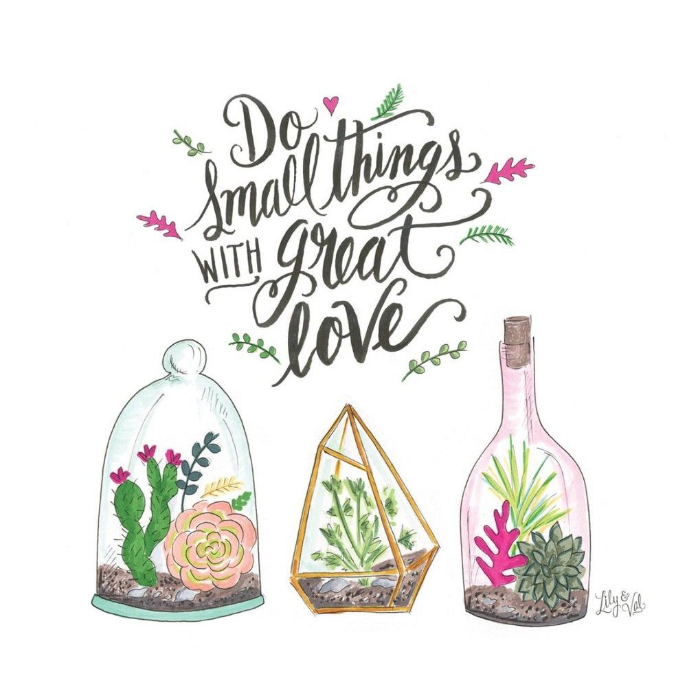 4pk Ceramic Small Things Great Love Coasters - Thirstystone