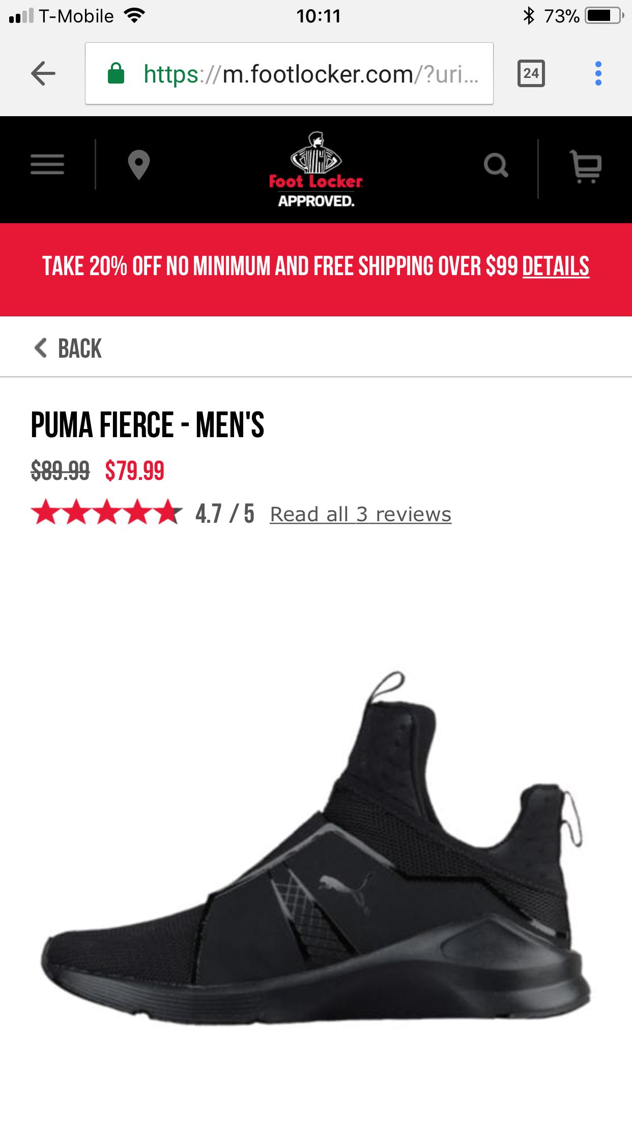 puma fierce foot locker