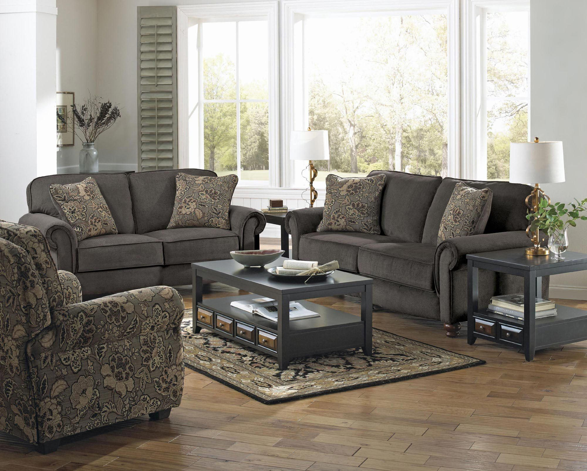latest sofa designs for living room%0A Downing Sofa Set in Charcoal   Jackson Furniture   Home Gallery Stores