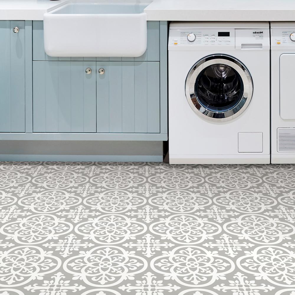 Floorpops 12 In X 12 In Medina Peel And Stick Floor Tiles 20 Tiles 20 Sq Ft Tfp2942 T In 2020 Peel And Stick Floor Self Adhesive Floor Tiles Laundry Room Tile
