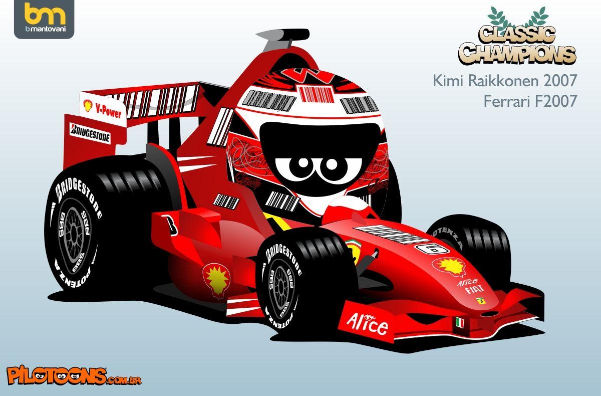 Pilotoons Kimi Raikkonen 2007 Ferrari Motogp Racing