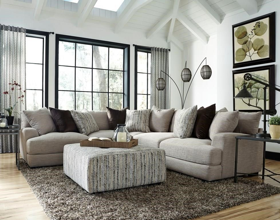 Hannigan 3 Piece Sectional By Franklin At Great American Home Store Farm House Living Room Modern Furniture Living Room Gray Sectional Living Room