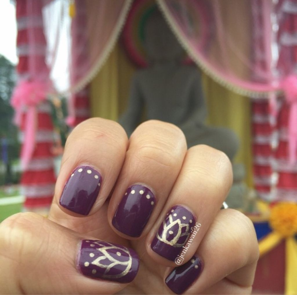 Lotus flower nail design for Khmer New Years | My nail designs ...