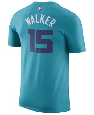 Nike Men's Kemba Walker Charlotte Hornets Name & Number Player T-Shirt -  Blue