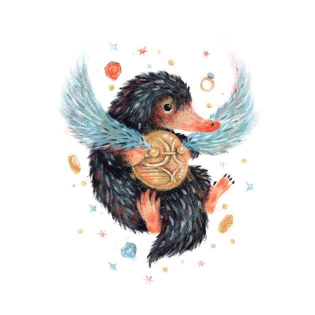 Coloriage Animaux Fantastiques Niffleur.Niffleur Dessin Em 2019 Les Animaux Fantastiques Animaux Harry