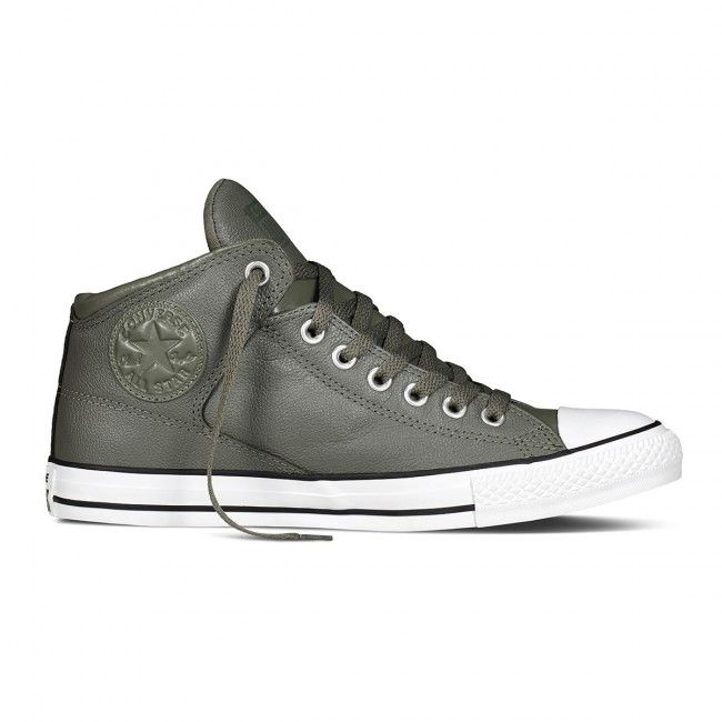 ff34bf223a42db Converse Chuck Taylor All Star High Street Hi - Olive White