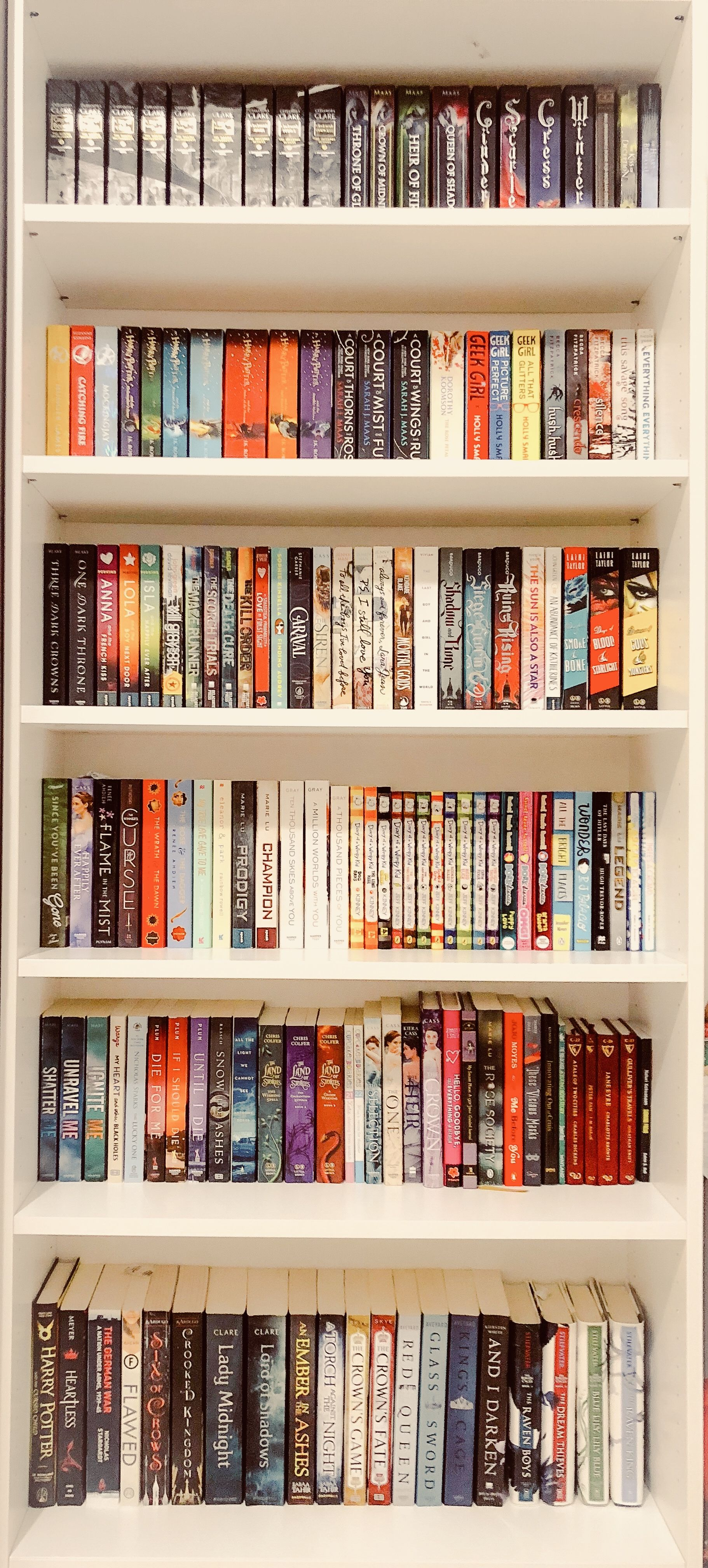 Shelfie Booksncolors Bookshelf Aesthetic Colors YAlit Novels