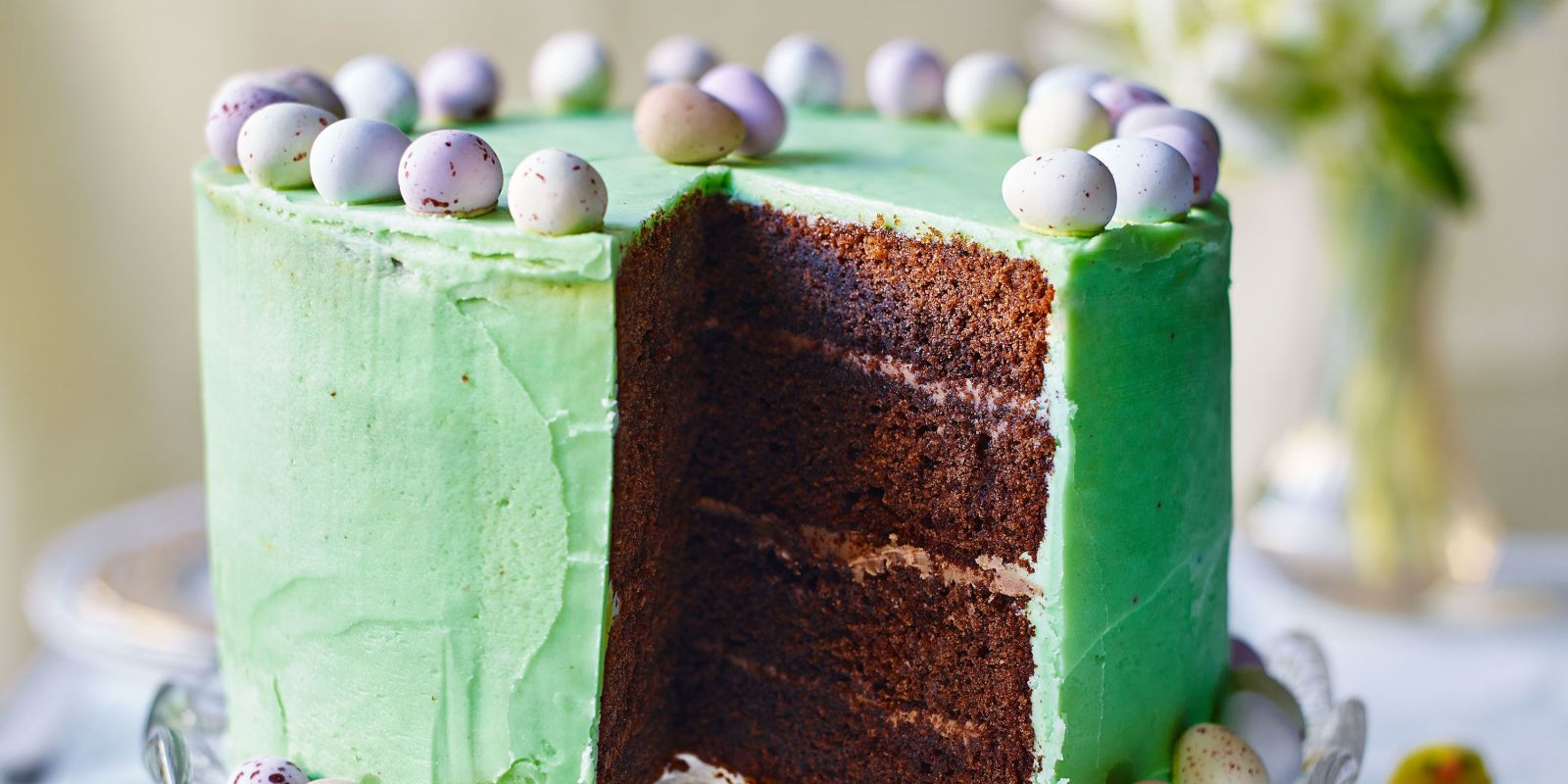 Easter baking doesn't get more spectacular than this colourful cake. The best bit? It's really straight forward to make.